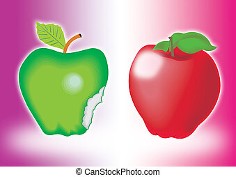 Red And Green Apple 1