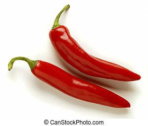 chili - 2 hot spicy chilis