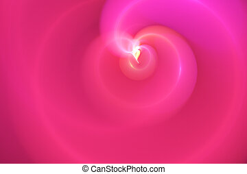 pink fractal - Abstract graphic design