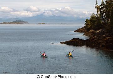 Kayaking Johnstone Strait - Whale watching Johnstone Strait...