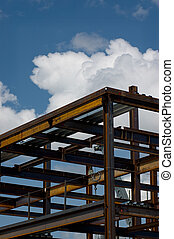 Ironworks - The ironworks skeleton of a modern building shot...