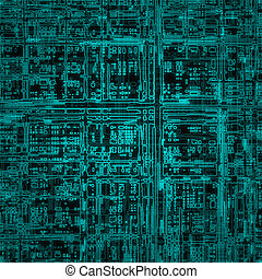 Electric circuit - Abstract illustration of electric circuit