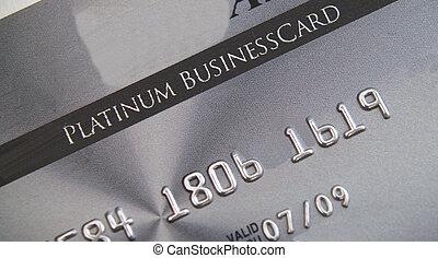 Platinum credit card - Close up of Business executive...