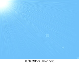 sun & sky background (sun in a cloud free sky)