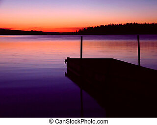 Howe Bay - Its a dock on a northern Saskatchewan Lake at...
