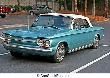 Classic Metallic Blue - A classic early sixties convertible...