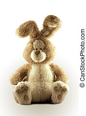 Cute Bunny - Childs Stuffed Bunny Rabbit with stylized side...