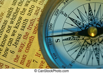 The way to God - A compass points in the direction of Jesus...
