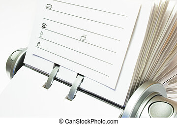 Business Card File - Fragment of classic business card file...
