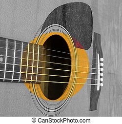 The Sound Hole - The sound hole of an acoustic guitar