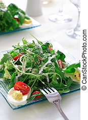 Healthy salad with rocket