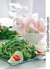 Healthy salad with rocket