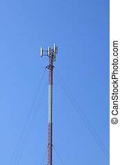 GSM antenna - A GSM antenna with blue sky background