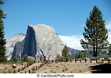 Half Dome at Glacier Point Yosemite National Park