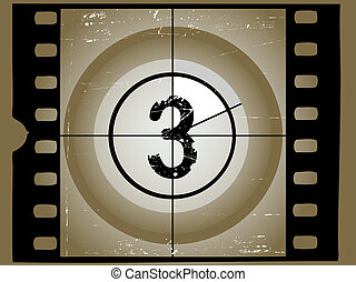 Old Scratched Film Countdown at No 3
