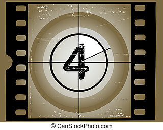Old Sctratched Film Countdown - At 4