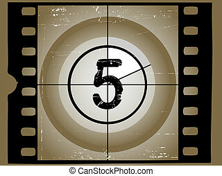 Old Scratched Film Countdown at No 45