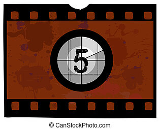 Film Countdown - At 5 - Old Fashioned Film Countdown No 5...