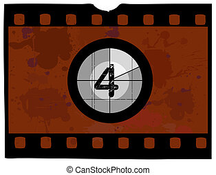 Film Countdown - At 4 - Old Fashioned Film Countdown No 4