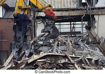 Demolition Site - Demolition of disused building in progress...