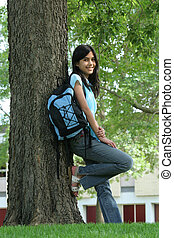 Teen ready for School - Teen girl ready for the first day of...