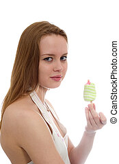 girl eating ice cream - lovely girl eating ice cream