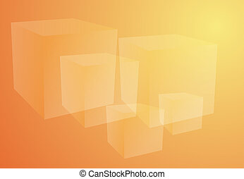 Abstract cubes - Abstract isometric geometric design of 3d...