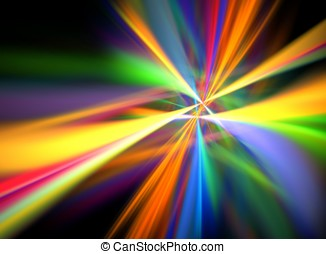 Digital Lightshow - -- multi-colored beams of light create a...
