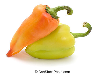 cayenne on white - series object on white - food - cayenne...