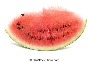 lobule watermelon - series object on white - food - lobule...
