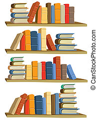 Books - Collection of colorful books on white background