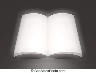 Big dreamy book - Illustration of a large open book...