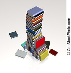 Books - Illustration of a large pile of books