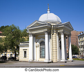 chapel - chaple in Saint-Petersburg in sunny day, Russia