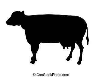 Cow - Silhouette illustration of a cow