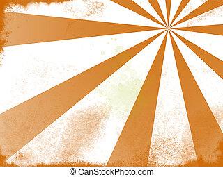 Grunge Background - A grunge style orange sun background