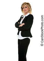 Business attire - Attractive thirty something blonde woman...
