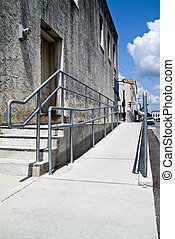 Handicap Access - A ramp and railings built to avail easy...