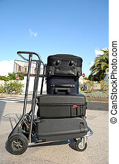 carrito, Muchos, maletas