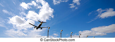 Plane near airport - Plane is going to land in an airport...