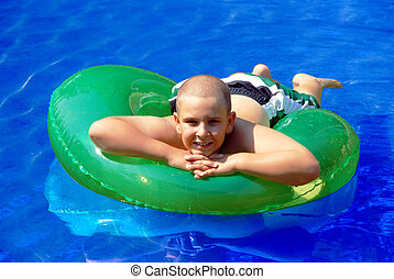 Child Floating on a inner