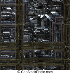 heavy machinery - large dark image of heavy industrial...