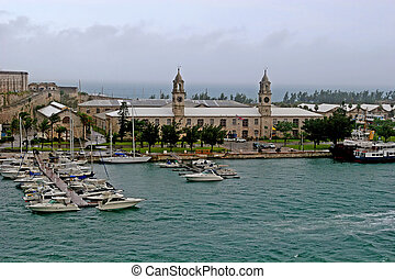 Bermuda Dockyard - View of the old naval dockyard in Bermuda