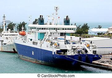 Cable Ship - A ship responsible for laying transatlantic...