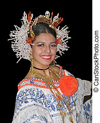 pretty panama dancer - beautiful lady from panama dancing...