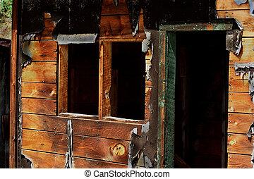 Silver mne 5 - Abandoned mine building near Bonanza,...