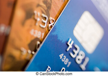 credit cards - Credit cards background. Small deep of focus...