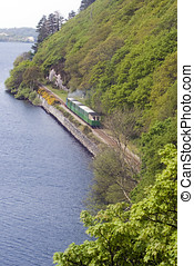 Llanberis, Jezioro, kolej żelazna