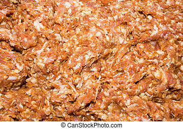 Minced meat texture