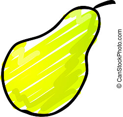 Sketch of a pear. Hand-drawn lineart look illustration rough...